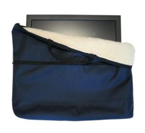 "Fleece lined 19"" TV or Laptop Carry Case Bag in Blue"