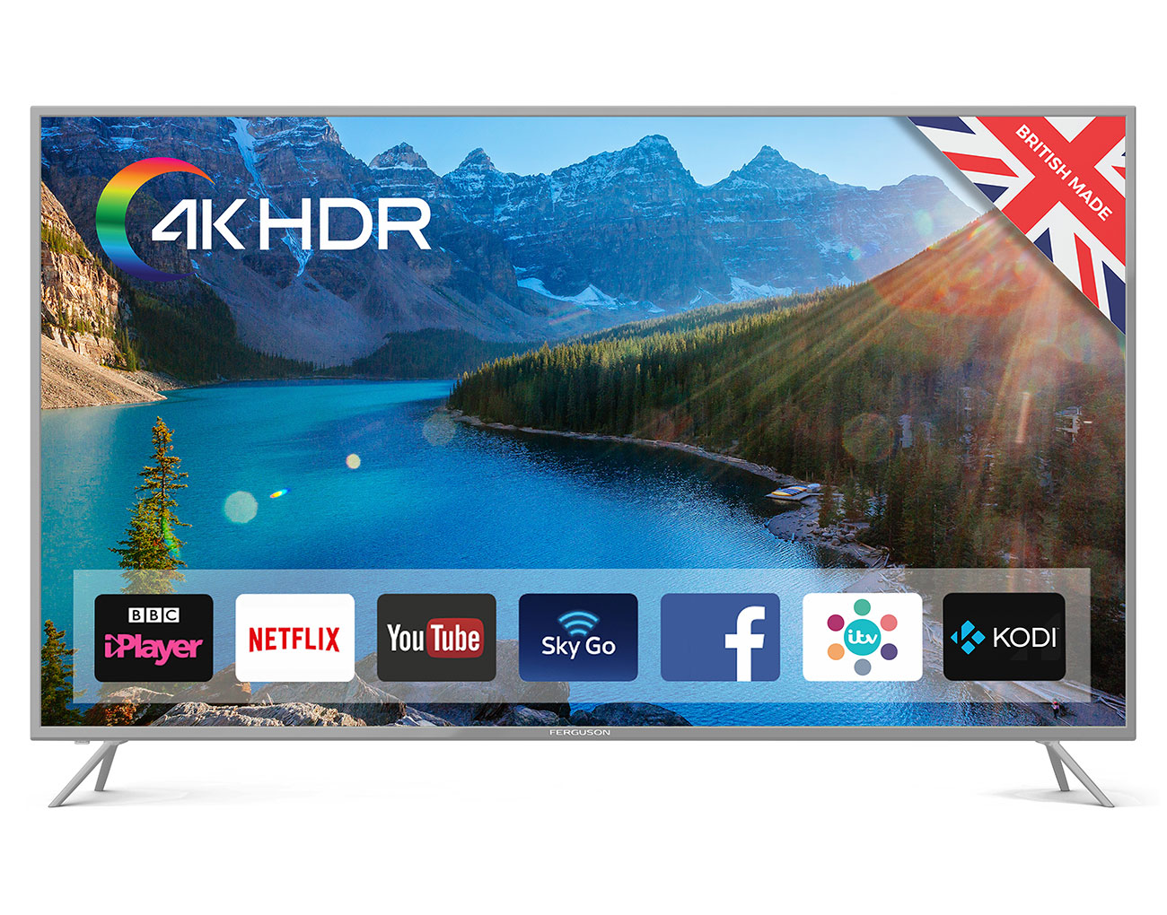 """Ferguson F65SFS-4K 65"""" Superfast Smart 4K HDR TV with Wi-Fi and Freeview T2  HD"""